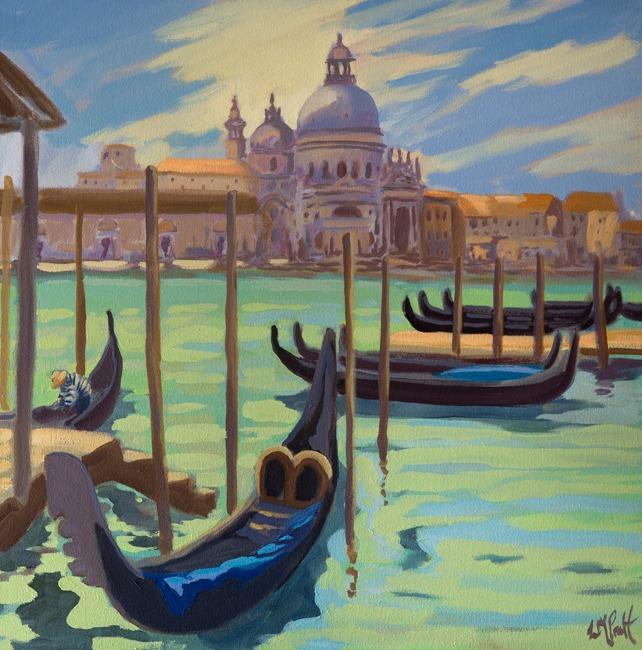 Moored Gondolas, San Giorgio - Lucy Pratt