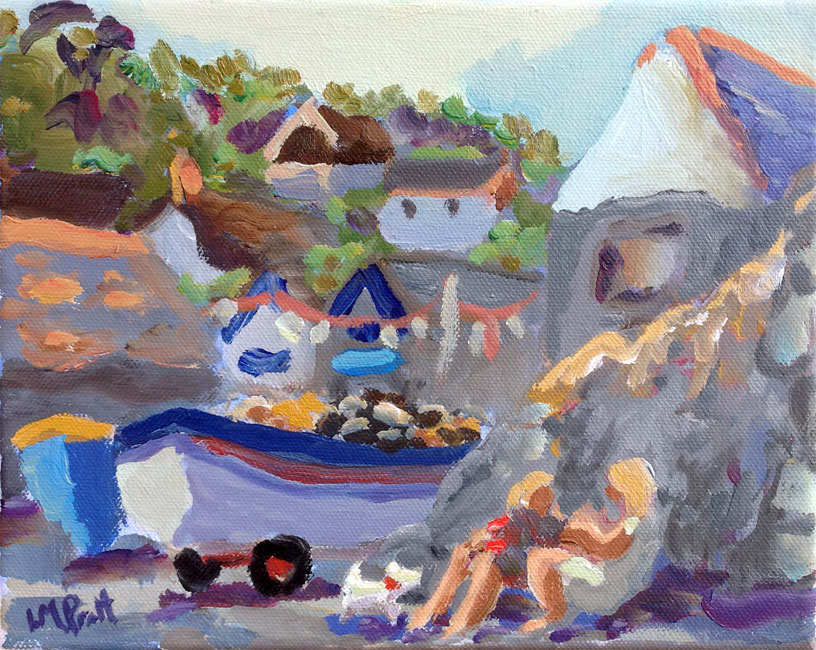 Afternoon on the Beach, Cadgwith - Lucy Pratt