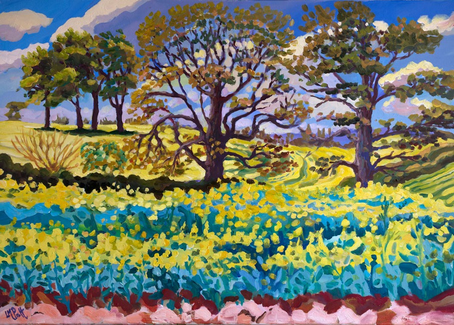 Yellow Swathes & Oaks I - Lucy Pratt