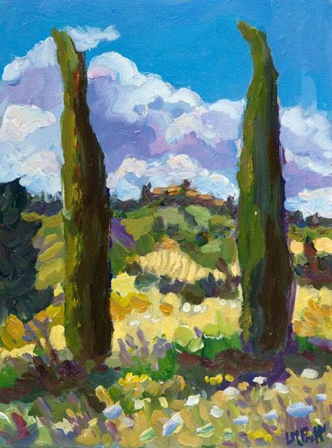 Poplars, Tuscany - Lucy Pratt