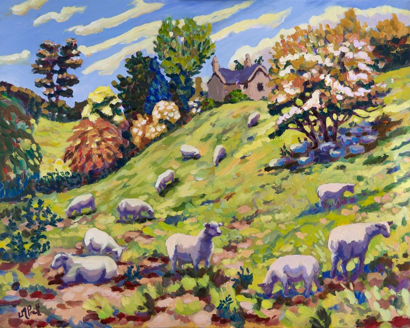 Sheep at Swinbrook - Lucy Pratt