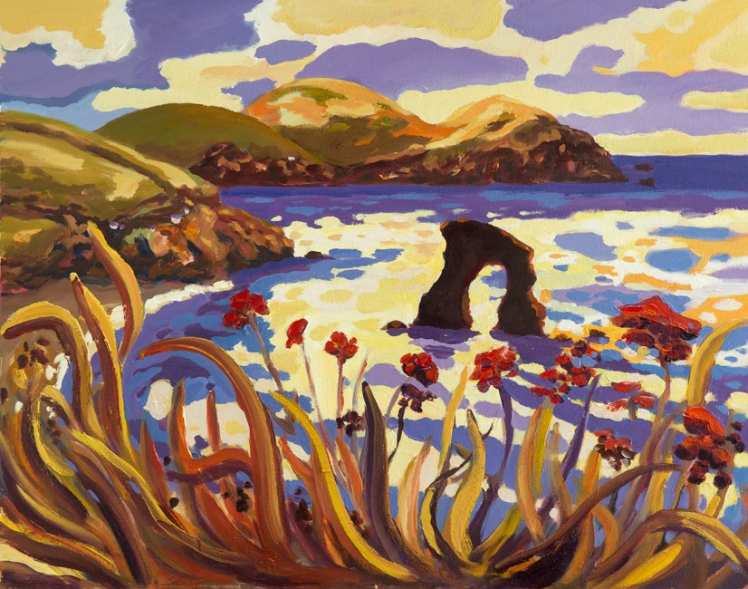 Red Seedheads, Thurlestone - Lucy Pratt