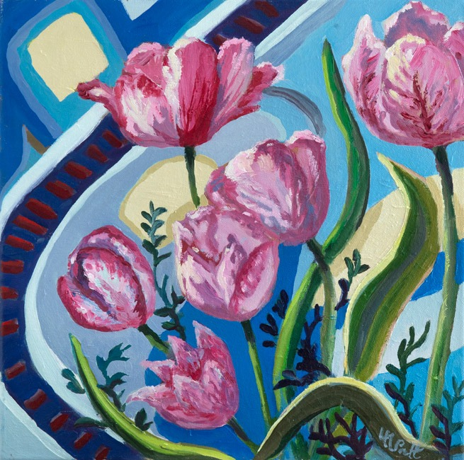 Spring Sorbet with Blue - Lucy Pratt