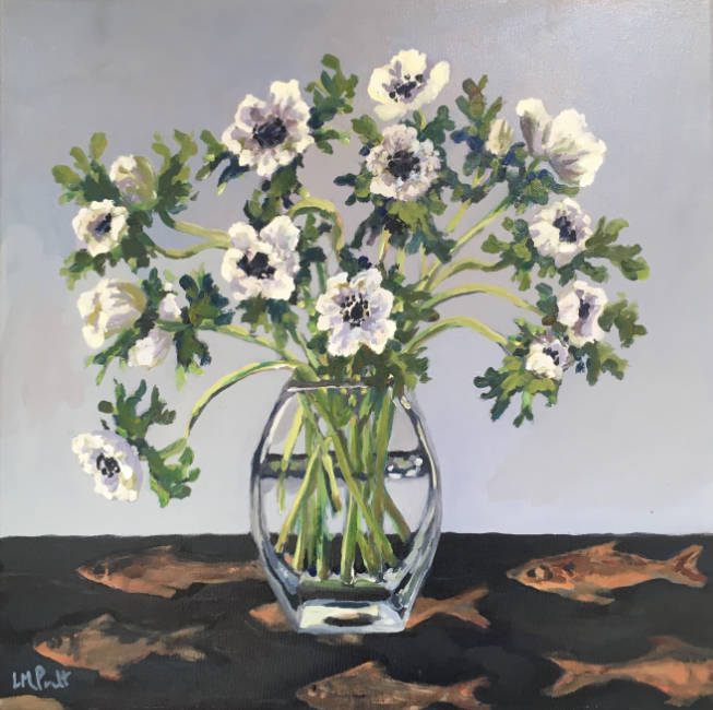 Anemones on Fish Cupboard - Lucy Pratt