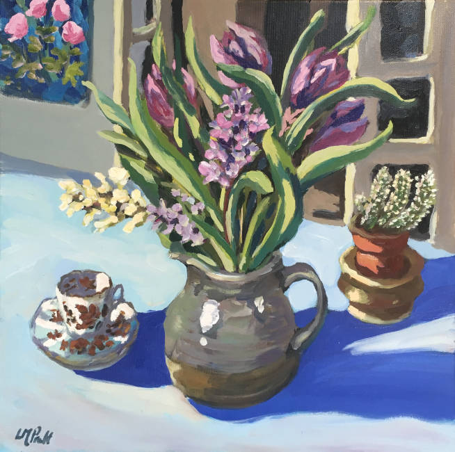 Hyacinths and Cactus - Lucy Pratt