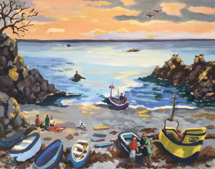 Cadgwith, end of day - Lucy Pratt